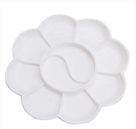 调色盘 调色板 儿童梅花水粉水彩油画丙烯美术颜料盘 透明 调色碟