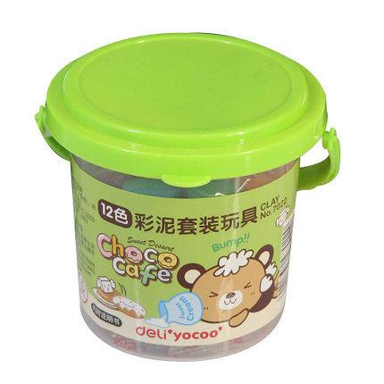 得力7022彩色橡皮泥儿童手工12色彩泥玩具套装小学生文具