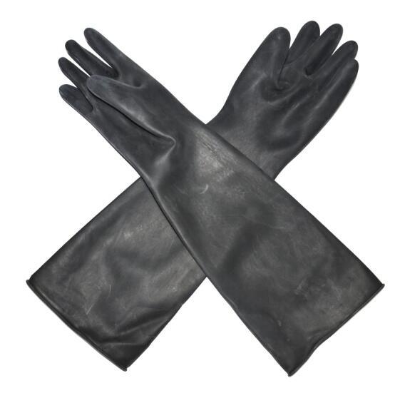 橡胶手套 黑色长款55cm