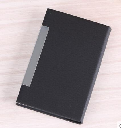 得力7628名片盒 商务名片盒收纳名片盒 便携商务时尚名片夹名片盒PU皮质卡片盒名片收纳盒